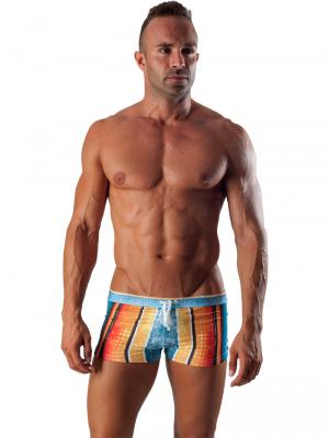 Geronimo Boxers, Item number: 1511b1 Blue Swim Trunk, Color: Multi, photo 2