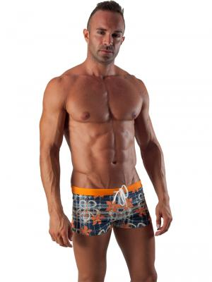 Geronimo Boxers, Item number: 1501b1 Orange Swim Trunk, Color: Orange, photo 2