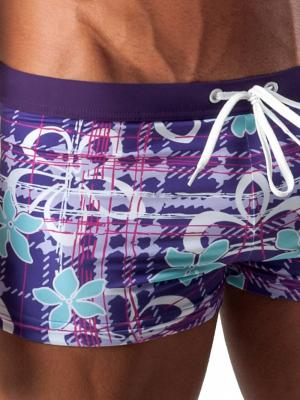 Geronimo Boxers, Item number: 1501b1 Purple Swim Trunk, Color: Purple, photo 3