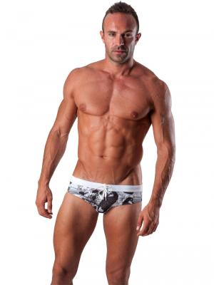 Geronimo Briefs, Item number: 1507s2 Black Swim Brief, Color: Black, photo 2