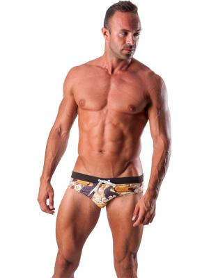 Geronimo Briefs, Item number: 1507s2 Brown Swim Brief, Color: Brown, photo 2
