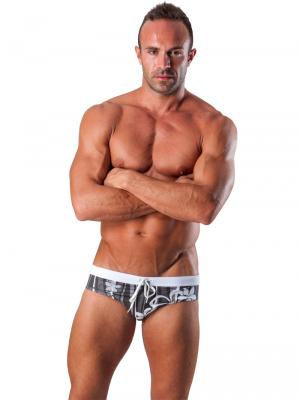 Geronimo Briefs, Item number: 1503s2 Black Swim Brief, Color: Black, photo 2