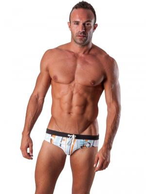 Geronimo Briefs, Item number: 1503s2 Light Blue Swim Brief, Color: Blue, photo 2