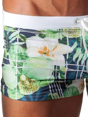 Geronimo Boxers, Item number: 1504b1 White Swim Trunk, Color: Multi, photo 3