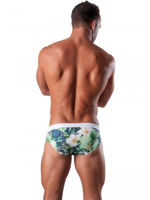 Geronimo Briefs, Item number: 1504s2 White Swim Brief, Color: Multi, photo 5