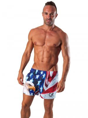 Geronimo Swim Shorts, Item number: 1532p1 Eagle Swim Short, Color: Multi, photo 2