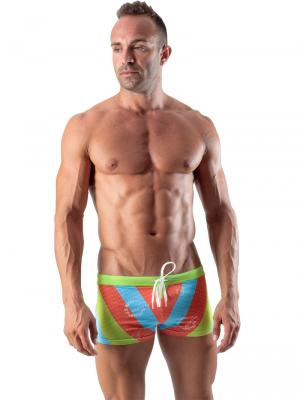 Geronimo Boxers, Item number: 1512b1 Green Swim Trunk, Color: Green, photo 2