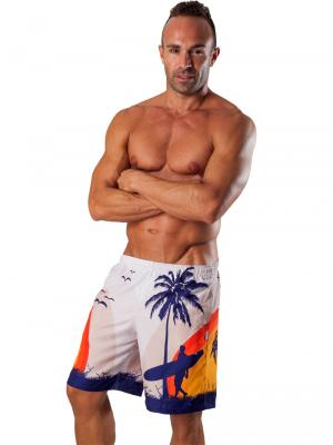Geronimo Board Shorts, Item number: 1558p4 White Boardshorts, Color: White, photo 2