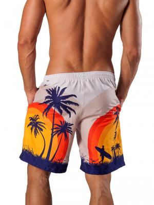 Geronimo Board Shorts, Item number: 1558p4 White Boardshorts, Color: White, photo 4