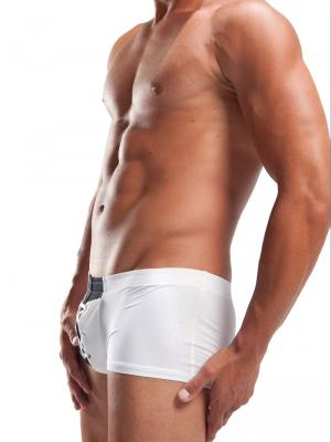 Geronimo Boxers, Item number: 734b2 White Lace up Boxer, Color: White, photo 3