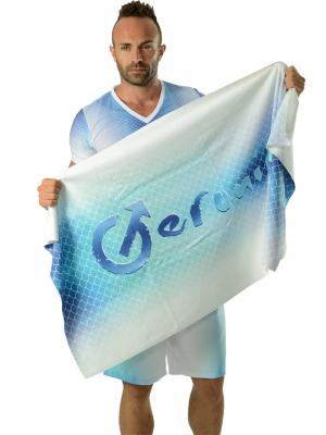 Geronimo Beach Towels, Item number: 1608x1 Fish Scales, Color: Blue, photo 3