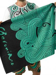 Beach Towels, Geronimo, Item number: 1612x1 Green Beach Towel