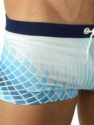 Geronimo Boxers, Item number: 1602b1 Blue Swim Trunk, Color: Blue, photo 3