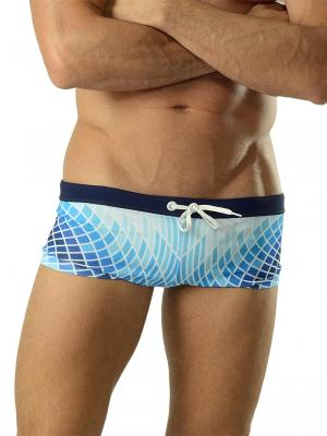 Geronimo Square Shorts, Item number: 1602b2 Blue Swim Hipster, Color: Blue, photo 1
