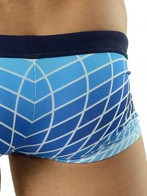 Geronimo Square Shorts, Item number: 1602b2 Blue Swim Hipster, Color: Blue, photo 3