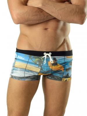 Geronimo Boxers, Item number: 1604b1 Black Swim Trunks, Color: Multi, photo 1