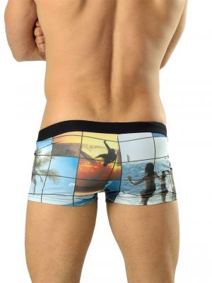 Geronimo Boxers, Item number: 1604b1 Black Swim Trunks, Color: Multi, photo 3