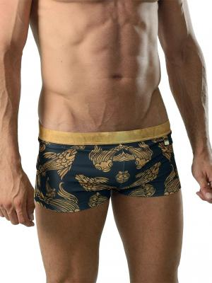 Geronimo Boxers, Item number: 1609b1 Black Koi Fish Trunk, Color: Black, photo 1
