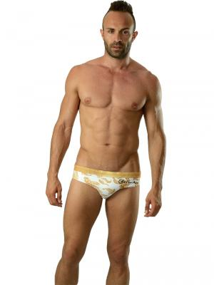 Geronimo Briefs, Item number: 1609s2 White Koi Fish Swim Brief, Color: White, photo 2