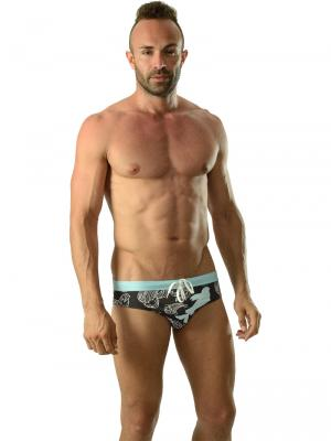 Geronimo Briefs, Item number: 1609s2 Light Koi Fish Swim Brief, Color: Multi, photo 2