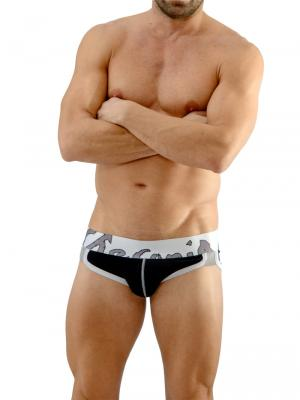 Geronimo Briefs, Item number: 1666s2 Black Briefs, Color: Black, photo 2