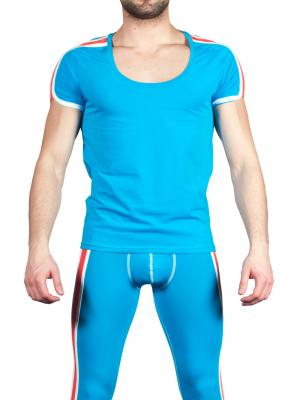Geronimo T shirt, Item number: 1666t5 Blue Mens T-shirt, Color: Blue, photo 2