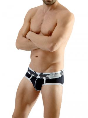 Geronimo Briefs, Item number: 1665s1 Black Men's Brief, Color: Black, photo 3