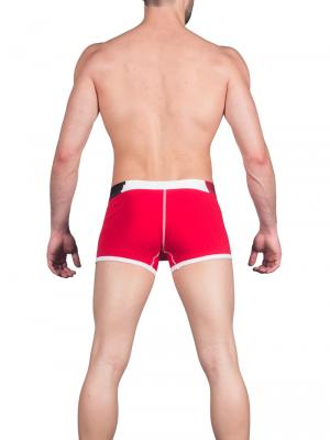 Geronimo Boxers, Item number: 1664b1 Red Men's Boxer Trunks, Color: Red, photo 5