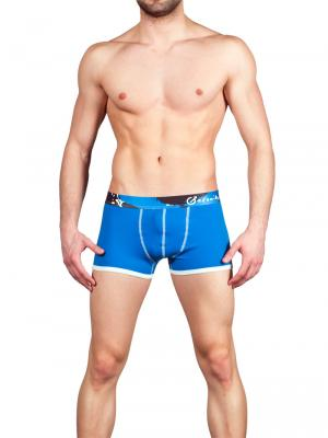 Geronimo Boxers, Item number: 1664b1 Blue Boxer Trunks, Color: Blue, photo 2