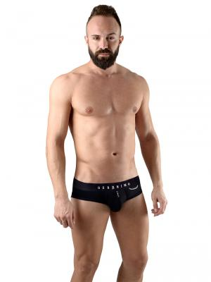 Geronimo Briefs, Item number: 1766s2 Black Zip Front Brief, Color: Black, photo 2