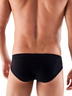 Geronimo Briefs, Item number: 1766s2 Black Zip Front Brief, Color: Black, photo 4