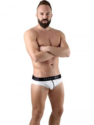 Geronimo Briefs, Item number: 1766s2 White Zip Front Brief, Color: White, photo 2