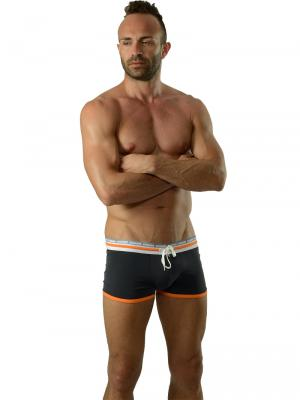 Geronimo Boxers, Item number: 1626b1 Black Orange Trunks, Color: Black, photo 2