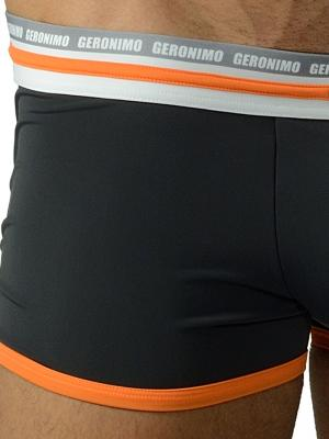 Geronimo Boxers, Item number: 1626b1 Black Orange Trunks, Color: Black, photo 3