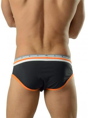 Geronimo Briefs, Item number: 1626s2 Black Orange Brief, Color: Black, photo 4