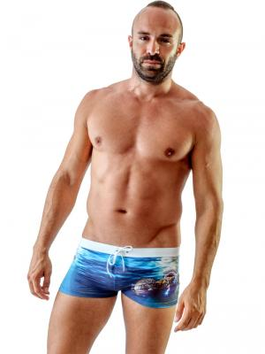 Geronimo Boxers, Item number: 1702b1 Ocean Space Trunks, Color: Multi, photo 2