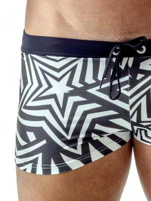Geronimo Boxers, Item number: 1705b1 Black Swim Trunks, Color: Black, photo 3