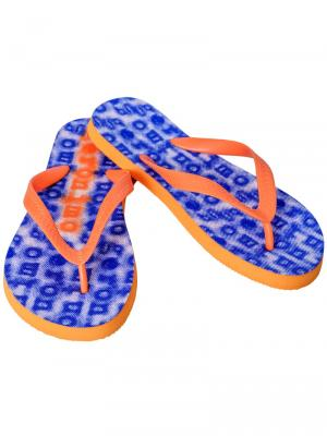 Geronimo Flip Flops, Item number: 1709f1 Blue Orange Flip Flop, Color: Blue, photo 1