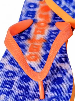 Geronimo Flip Flops, Item number: 1709f1 Blue Orange Flip Flop, Color: Blue, photo 3