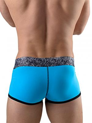 Geronimo Boxers, Item number: 1751b1 Turquoise Boxer Trunk, Color: Blue, photo 4