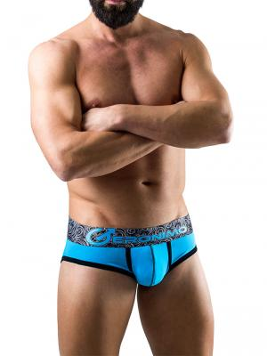 Geronimo Briefs, Item number: 1751s2 Turquoise Men's Brief, Color: Blue, photo 2