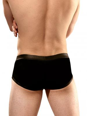 Geronimo Briefs, Item number: 1840s25 Black Faux Leather, Color: Black, photo 6
