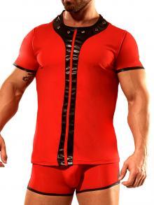 Fetish, Geronimo, Item number: 1840t26 Red T-shirt For Men