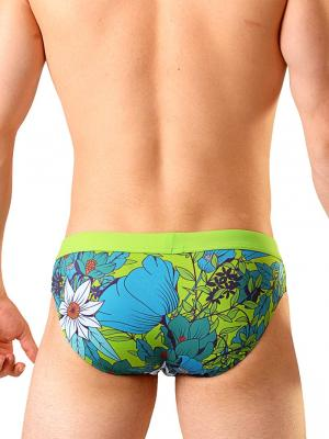 Geronimo Briefs, Item number: 1801s2 Green Swimming Brief, Color: Green, photo 4