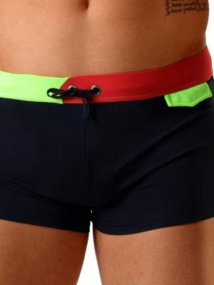Geronimo Boxers, Item number: 1820b1 Black Swim Trunk, Color: Black, photo 3