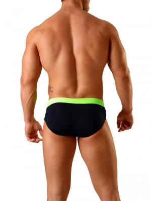 Geronimo Briefs, Item number: 1820s2 Black Swim Brief for Men, Color: Black, photo 5