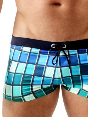Geronimo Boxers, Item number: Blue Colorful Swim Trunk, Color: Blue, photo 3