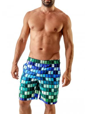 Geronimo Board Shorts, Item number: Blue Colorful Boardshort, Color: Blue, photo 2