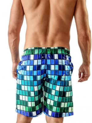 Geronimo Board Shorts, Item number: Blue Colorful Boardshort, Color: Blue, photo 4