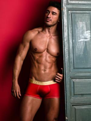 Geronimo Boxers, Item number: 1852b2 Red Boxer Brief, Color: Red, photo 2